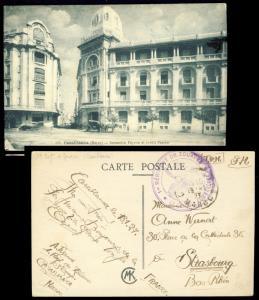 MAROC - 1927 cachet 1er RÉGIMENT DES ZOUAVES * LE COLONEL COMMANDANT sur CPA