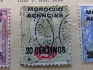 British Morocco 1907-10 20c on 2p fine used stamp A11P30F15