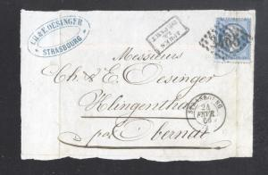 France 1866 Postal History Rare Front Cover 20 C NAPOLEON DB.242