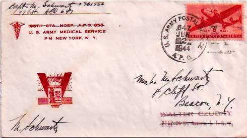 United States A.P.O.'s 6c Transport 1944 U.S. Army Postal Service, A.P.O. 647...