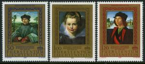 Liechtenstein 817-819,MI 881-883,MNH. Paintings from Princely collections, 1985