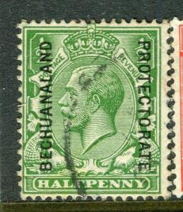 BECHUANALAND; 1927 early GV issue fine used 1/2d. value