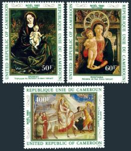 Cameroun C297-C299,MNH.Michel 965-967. Christmas 1981.Froment,Mantegna,Giotto.