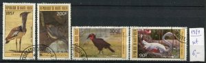 265165 Upper Volta 1984 year used stamps set BIRDS