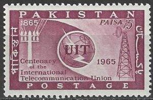 Pakistan    214  MNH  ITU Centennial