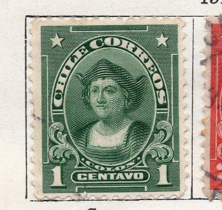 Chile 1911 Early Issue Fine Used 1c. 135796