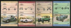 Tuvalu 1984 Motor Car Automobile Transport Sc 271-74 MNH # 886