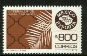 MEXICO Exporta 1499 $800P Construction Mat Fluor Paper 8 MNH