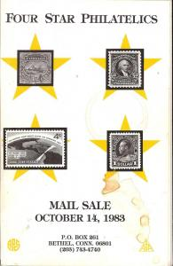 Four Star Philatelics - Mail Sale, Four Star Oct 1983