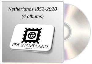 Netherlands 1852-2020 (4 albums) PDF STAMP ALBUM PAGES