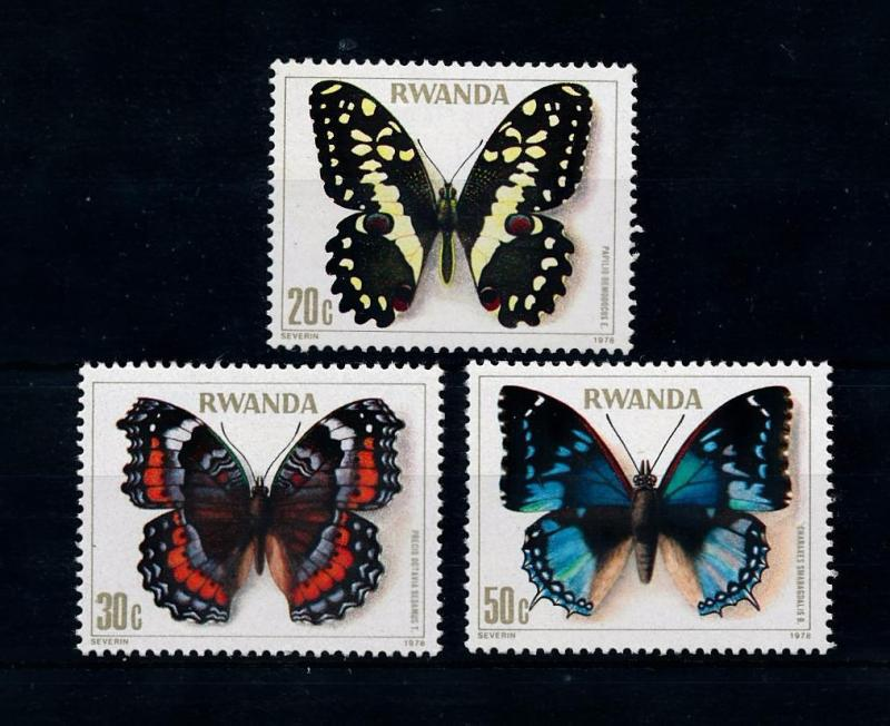 [52513] Rwanda 1979 Butterflies Schmetterlingen Papillons from set MNH