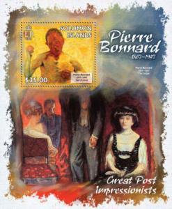 Solomon Islands - Art, Pierre Bonnard - Souvenir Sheet - 19M-169