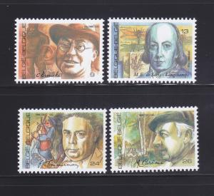 Belgium 1254-1257 Set MNH Famous People