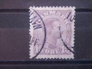 DENMARK, 1913, used 15o, Scott 102