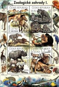 Czech Republic 2016 MNH Stamps Souvenir Sheet ZOO Animals Birds Fis Monkey Horse