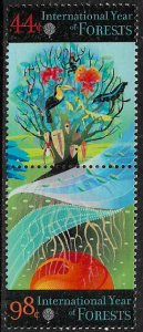 United Nations #1036a MNH Pair - Year of Forests