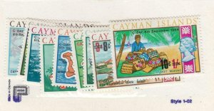 CAYMAN ISLANDS (MK6649,A) # 227-241 VF-MNH  VARc 1969 TYPE OF 1969 SURCHARGED