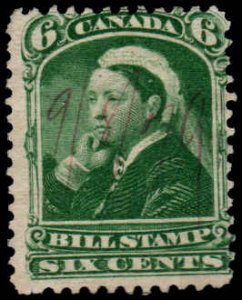 Canada - 6 cent - Bill Stamp  - Used
