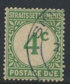 Straits Settlements George V Postage Due  SG D3 Used