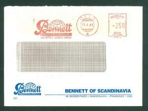 Norway. 1983. Cover Commercial. Red Meter Stamp. Bennett Travel Agency Scandi.