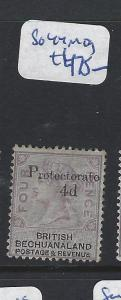 BECHUANALAND PROTECTORATE (PP1111B) QV 4D/4D PROTECTORATE  SG 44   MOG