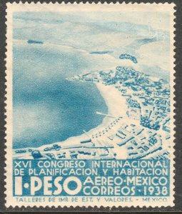MEXICO C89, $1P PLANIFICATION CONGRESS, UNUSED, H OG. F-VF