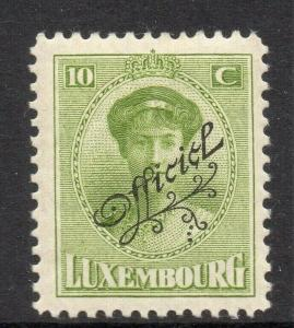 Luxembourg 1922 Early Issue Fine Mint Hinged 10c. Official Optd 309264