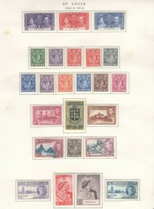 St. Lucia Stamps 1937-48 Approx. CV. $61 (JH 9/22) GP
