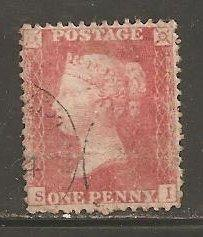 Great Britain  SC  20 Used.  Position SI