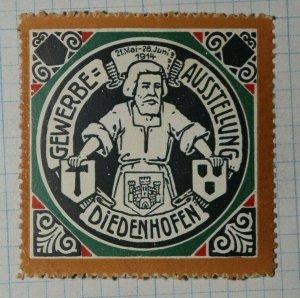 Diedenhoten Thionville 1914 Trade Fair Expo Poster Stamp Ads