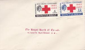 Montserrat 1963 Red Cross Centenary First Day Cover Handstamp Address  VF