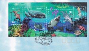 1998, Australia: Planet Ocean, FDC (E11389)