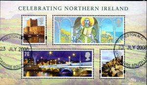 2008 Sg MSNI52 Celebrating Northern Ireland Minisheet Fine Used