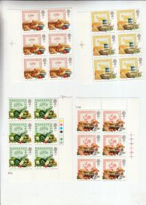 1989 FOOD AND FARMING YEAR BLOCKS OF 6/BLOCKS OF 4   UMM/MNH