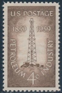 #1134 4¢ 1959 PETROLEUM INDUSTRY MINT OGN H GEM W/ PSE GRADED 100 CERT BU2688