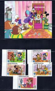 Grenada 1317-11 NH 1985 Disney Set