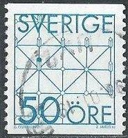 Sweden 1434 (used) 50ö game: fox and cheese (1985)
