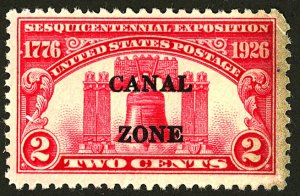 CANAL ZONE #96 MINT NG CORNER CREASE