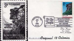 United States, First Day Cover, New Hampshire