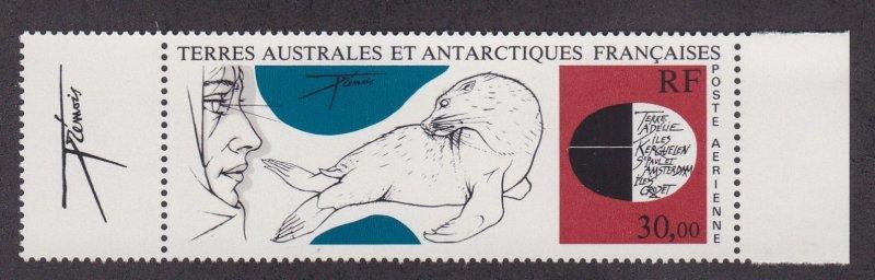 French Southern Antarctic Terr. # C88, Explorer & Seal, NH, 1/2 Cat.