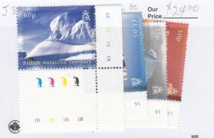 BRITISH ANTARCTIC TERRITORY VF-MNH ICE BERGS WITH TRAFFIC LIGHTS AND PLATES