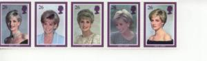 1998 Great Britain Princess Diana (Scott 1791-95a) MNH