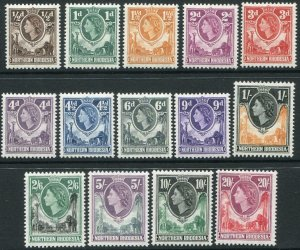 NORTHERN RHODESIA-1953 Set to 20/- Sg 61-74 MOUNTED MINT V48302