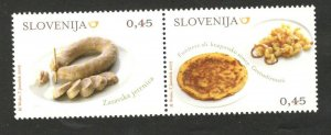 SLOVENIA - MNH PAIR - GASTRONOMY - 2009.