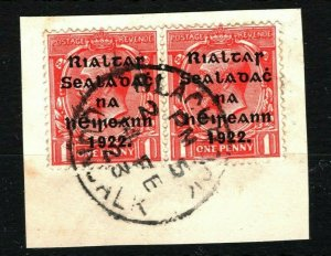 IRELAND 1922 Free State Overprints EIRE *Blackrock Dundalk* CDS Postmark MS2273