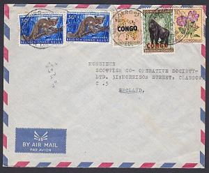 BELGIAN CONGO / CONGO 1961 mixed franking cover ex Lupabourg to UK.........87785