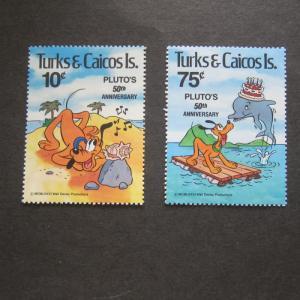 Turks & Caicos 1981 Sc 468-69 Disney set MNH