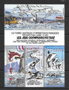 FRENCH SOUTHERN ANTARCTIC TERRITORY #312 (MS)  MNH