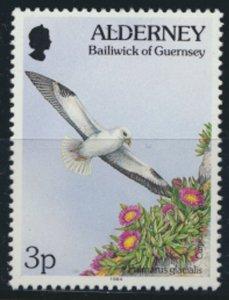 GB Alderney  SG A62 MNH  3p Fulmar  Birds  1994 SC# 72 See scan