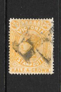 VICTORIA  1884  2/6  QV  STAMP DUTY     FU    SG 292